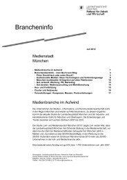 Brancheninfo - Referat für Arbeit und Wirtschaft