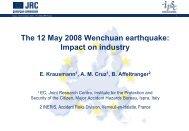 The 12 May 2008 Wenchuan earthquake: Impact on ... - NEXUS-IDRiM