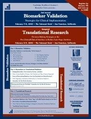 Translational Research Biomarker Validation - Cambridge ...