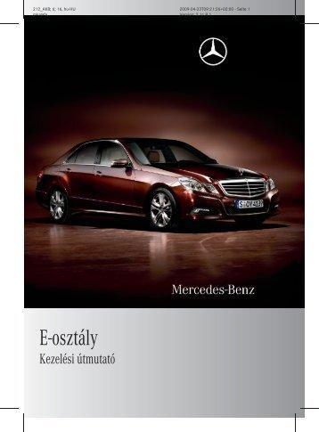 Mercedes-Benz E-osztály (212) kezelési útmutató letöltése (PDF)