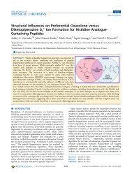 Structural Influences on Preferential Oxazolone versus ...