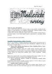 Medlešické noviny únor 2011 číslo 2. - M klub Medlešice