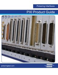 PXI Product Guide - Pickering Interfaces