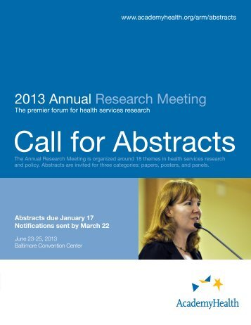 Call for Abstracts - AcademyHealth