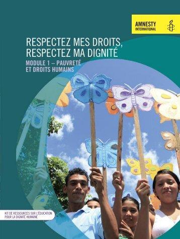 Respectez mes droits, respectez ma dignité - Amnesty International ...
