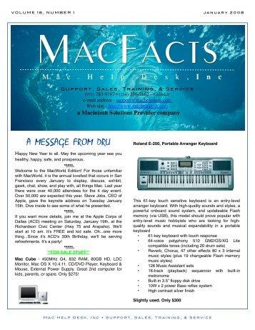 January 2008 - Mac Help Desk