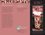 Igbo - National African Language Resource Center