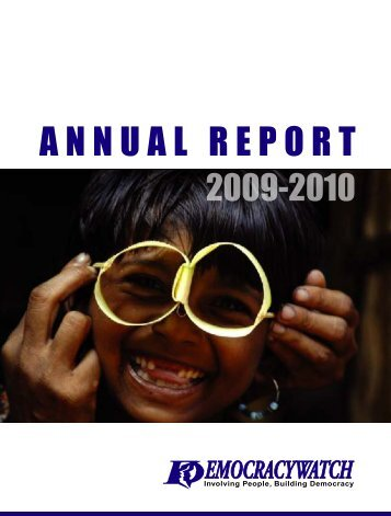 Annual Report 2009-10 - Democracywatch