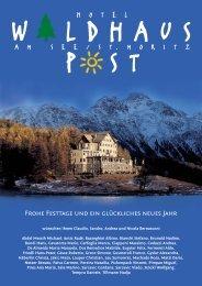 Frohe Festtage und ein glückliches neues Jahr - Hotel Waldhaus am ...