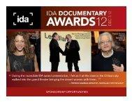 Awards Sponsorship Package - International Documentary ...