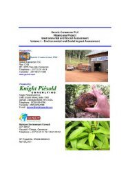 Nkamouna Project Environmental & Social Impact Assessment ...