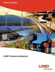 LORD® Structural Adhesives - LORD Industrial