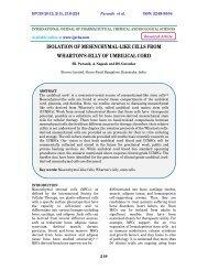 isolation of mesenchymal-like cells from wharton's jelly - ijpcbs