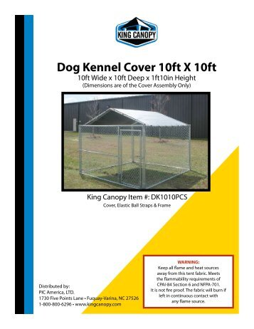 Harbor Freight Dog Kennel  Assembly