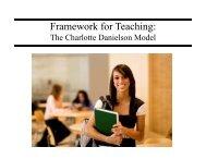 Framework for Teaching: - Washington County, MD Public Schools