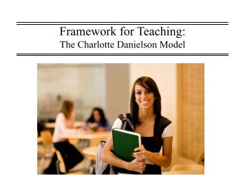 Framework for Teaching: - Washington County, MD Public Schools