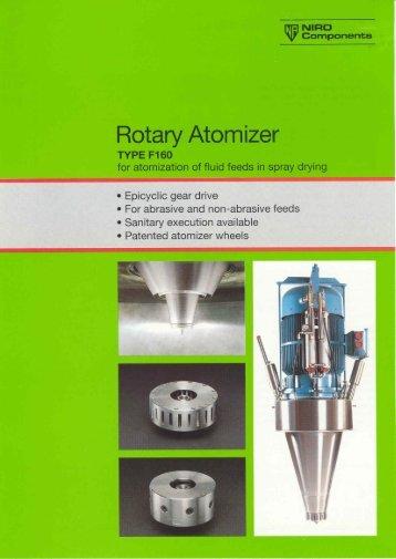 Brochure GEA Niro Rotary Atomizer Type F160