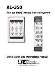 KE-350 Installation & Operations Manual - Essex Electronics