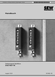 Gebersignal-Splittbox DAE70B/71B - SEW-Eurodrive