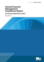 Financial management annual compliance report 2011-12