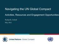 Sean Reykjavik GC Update.pdf - Global Compact Nordic Network