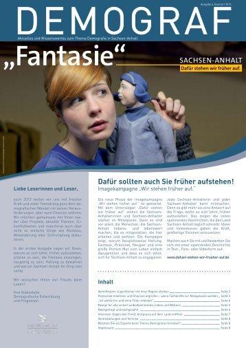 Ausgabe 6, Quartal I 2013 - Demografie - Sachsen-Anhalt