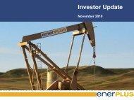 Investor Presentation - Enerplus