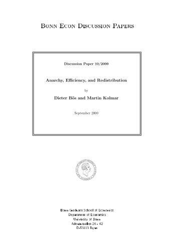 Bonn Econ Discussion Papers