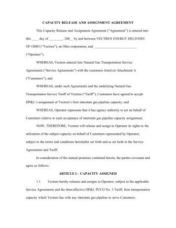 ASSIGNMENT AGREEMENT This Agreement is made on [date ...