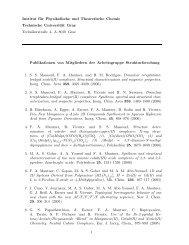 Institut für Physikalische und Theoretische Chemie Technische ...