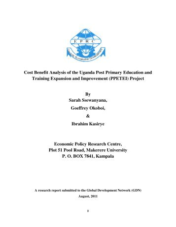 Cost Benefit Analysis of the Uganda Post Primary Education and ...