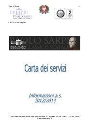 Carta dei servizi 2012-13 - Liceo Classico Statale