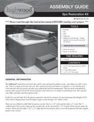 ASSeMBLY GUIDe - Hot Tub Works