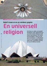 Bahá'í-troen er en av verdens yngste: - Bahá'í Norge