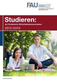 Studieren: - am Fachbereich Wirtschaftswissenschaften - Friedrich ...