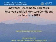 Snowpack, Streamflow Forecasts, Reservoir and Soil Moisture ...