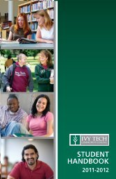 student handbook student handbook - Ivy Tech Community College