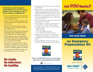 FOR YOUR HOME An Emergency Preparedness Kit - In Stores Now