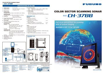 color sector scanning sonar ch-37bb - Furuno