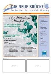 Hier und Heute: - Lutherstadt Wittenberg