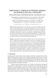 Implementaç ˜ao e Avaliaç ˜ao de um Mecanismo Adaptativo para ...