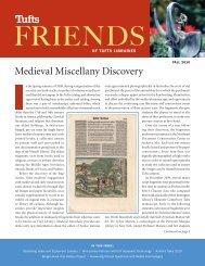 Fall 2010 - Tufts University Library Catalog