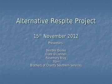 Alternative Respite Project - Genio