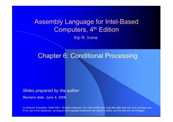 Assembly Language for Intel-Based Computers, 4th Edition Chapter 6