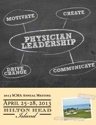 PHYSICIAN LEADERSHIP - South Carolina Medical Association