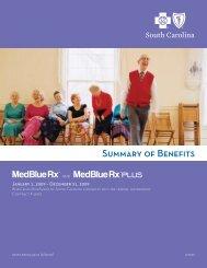 Summary of Benefits - Blue Cross and Blue Shield of South Carolina