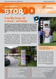Freiwillig Tempo 30 in Arosa – mit Erfolg! - Signal AG