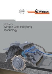 Wirtgen Cold Recycling Technology - Cold Recycling - Wirtgen GmbH