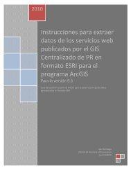 Instrucciones para acceder a servicios web publicados por el GIS ...