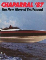 1987 Chaparral Boats Brochure